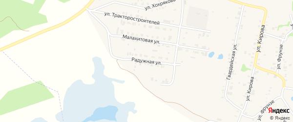 Радужная улица на карте Зауральского поселка с номерами домов