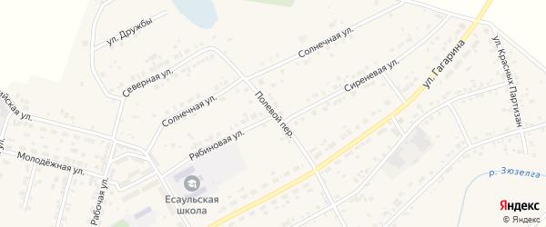 Полевой переулок на карте Есаульского поселка с номерами домов