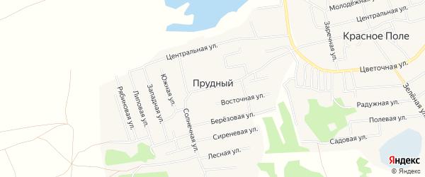 Карта Прудного поселка в Челябинской области с улицами и номерами домов