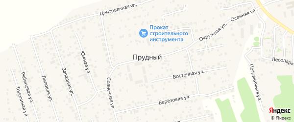 Центральный переулок на карте Прудного поселка с номерами домов