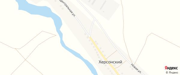 Центральная улица на карте Херсонского поселка с номерами домов