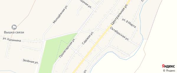 Садовая улица на карте Красногорского поселка с номерами домов