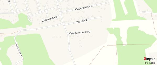 Юридическая улица на карте Прудного поселка с номерами домов
