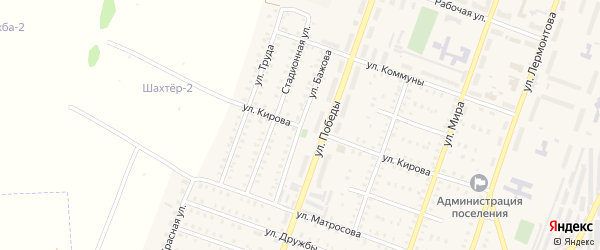 Улица Бажова на карте Красногорского поселка с номерами домов