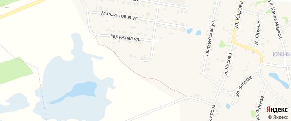 Березовая улица на карте Зауральского поселка с номерами домов