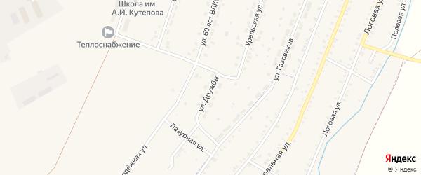 Улица Дружбы на карте Красносельского села с номерами домов