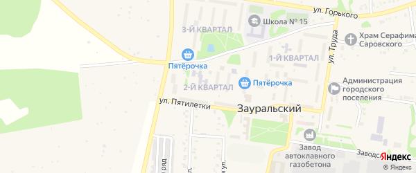 2-й квартал на карте Зауральского поселка с номерами домов