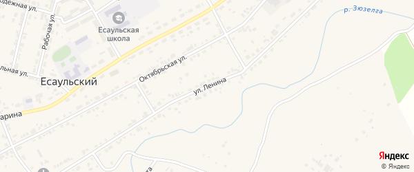 Улица Ленина на карте Есаульского поселка с номерами домов