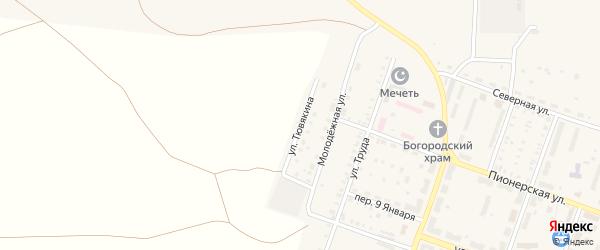 Улица Тювякина на карте Красногорского поселка с номерами домов