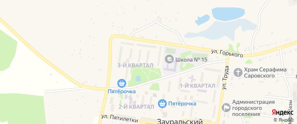 3-й квартал на карте Зауральского поселка с номерами домов