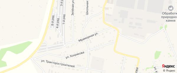 Мраморная улица на карте Зауральского поселка с номерами домов