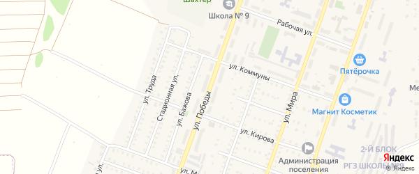 Улица Победы на карте Красногорского поселка с номерами домов