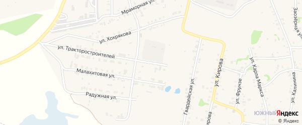 Улица Тракторостроителей на карте Зауральского поселка с номерами домов