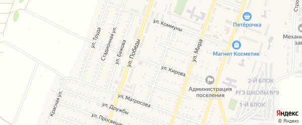 Улица Кирова на карте Красногорского поселка с номерами домов