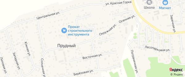 Окружная улица на карте Прудного поселка с номерами домов