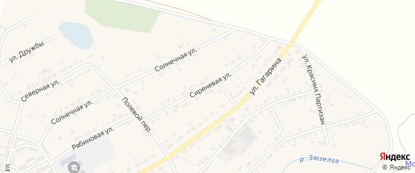 Сиреневая улица на карте Есаульского поселка с номерами домов