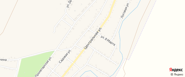 Центральная улица на карте Красногорского поселка с номерами домов