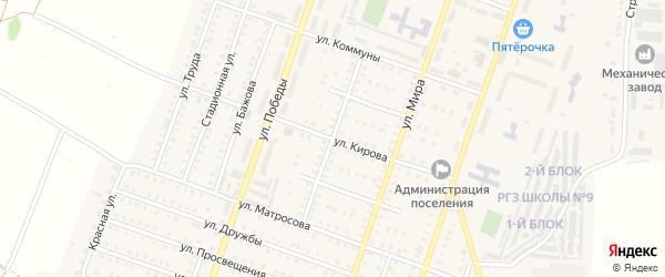 Советская улица на карте Красногорского поселка с номерами домов