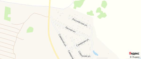Лесная улица на карте Красногорского поселка с номерами домов