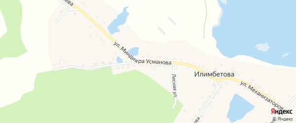 Улица Усманова на карте деревни Илимбетова с номерами домов