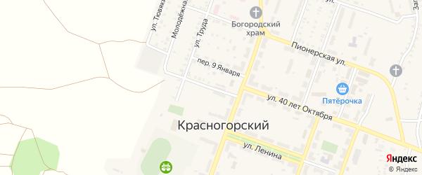 Комсомольский переулок на карте Красногорского поселка с номерами домов