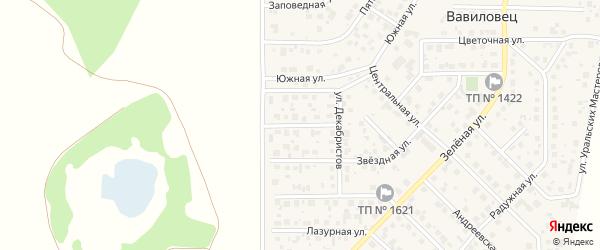 Пражская улица на карте поселка Вавиловца с номерами домов