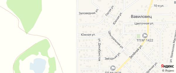 Улица Декабристов на карте поселка Вавиловца с номерами домов