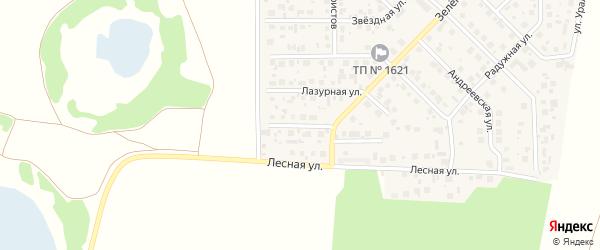 Жемчужная улица на карте поселка Вавиловца с номерами домов