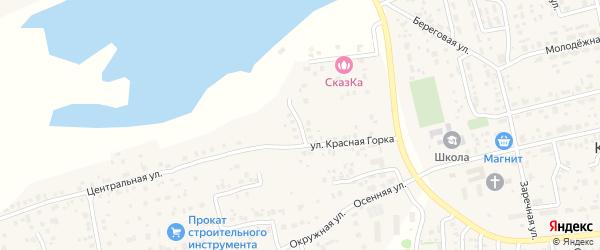Заячья улица на карте Прудного поселка с номерами домов