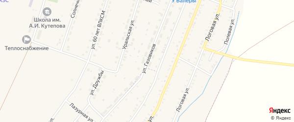 Улица Газовиков на карте Красносельского села с номерами домов