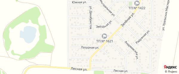 Улица Олега Митяева на карте поселка Вавиловца с номерами домов