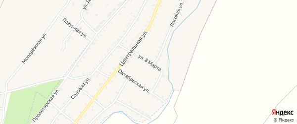 Улица 8 Марта на карте Красногорского поселка с номерами домов