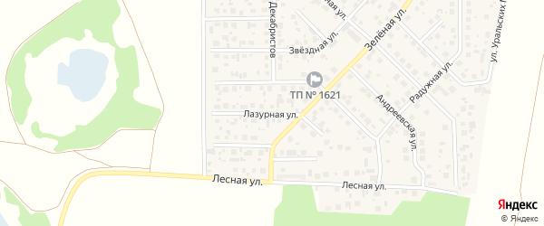 Лазурная улица на карте поселка Вавиловца с номерами домов