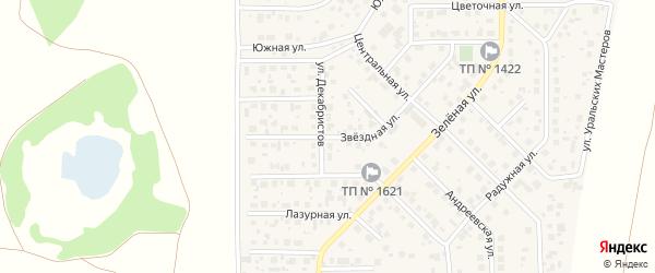 Звездная улица на карте поселка Вавиловца с номерами домов