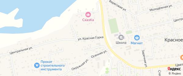 Улица Красная Горка на карте Прудного поселка с номерами домов