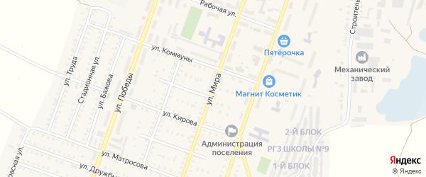 Улица Мира на карте Красногорского поселка с номерами домов