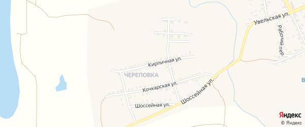 Кирпичная улица на карте Южноуральска с номерами домов