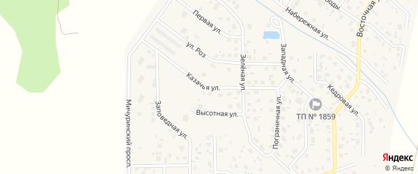 Пограничная улица на карте поселка Вавиловца с номерами домов