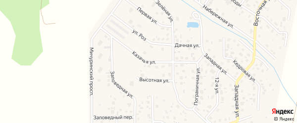 Пограничная улица на карте поселка Смолина ж-д. ст. с номерами домов