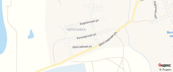 Кочкарская улица на карте Южноуральска с номерами домов