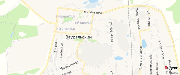 СТ Заря на карте Зауральского поселка с номерами домов