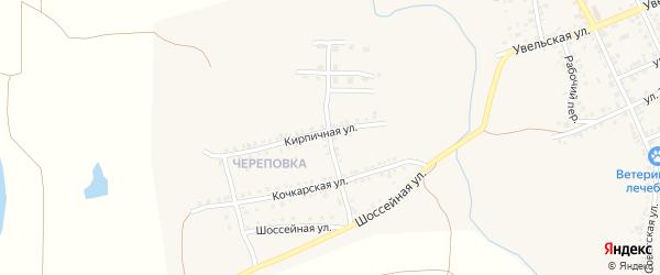 Пионерская улица на карте Южноуральска с номерами домов