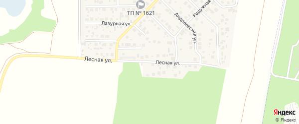 Лесная улица на карте поселка Вавиловца с номерами домов