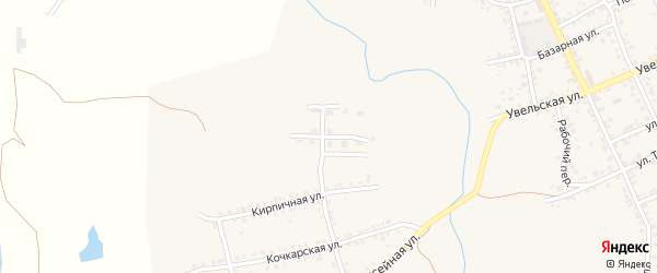 Октябрьская улица на карте Южноуральска с номерами домов