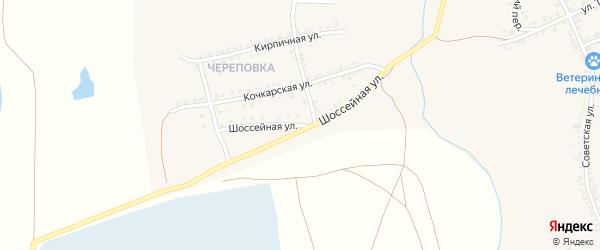 Шоссейная улица на карте Южноуральска с номерами домов