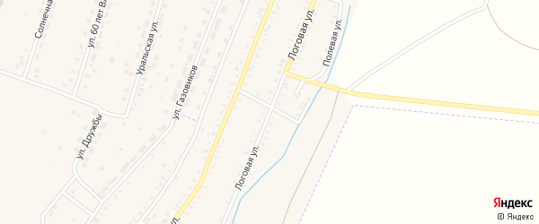 Логовая улица на карте Красногорского поселка с номерами домов