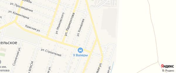 Пригородная улица на карте Красногорского поселка с номерами домов