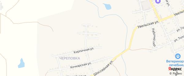 Заливная улица на карте Южноуральска с номерами домов