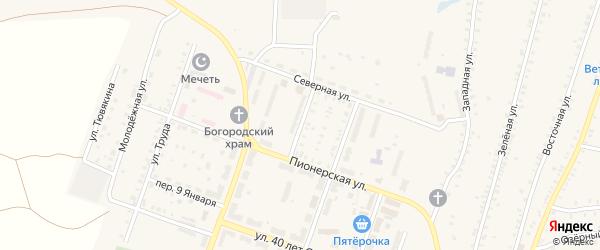 Улица Некрасова на карте Красногорского поселка с номерами домов