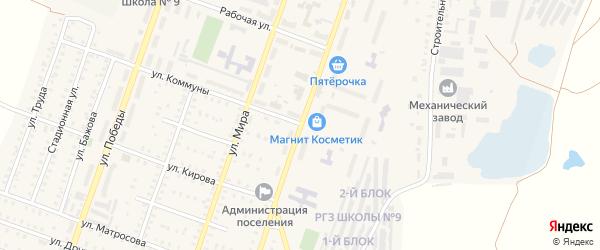 Улица Лермонтова на карте Красногорского поселка с номерами домов